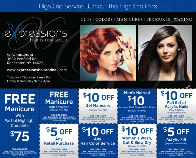 Expressions Hair & Nail Salon Postcard