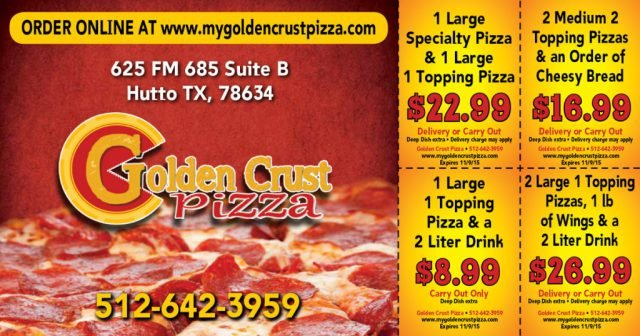 Golden Crust Pizza Postcard