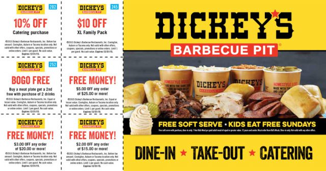 Dickey's Barbecue Pit Postcard Scratch-Off
