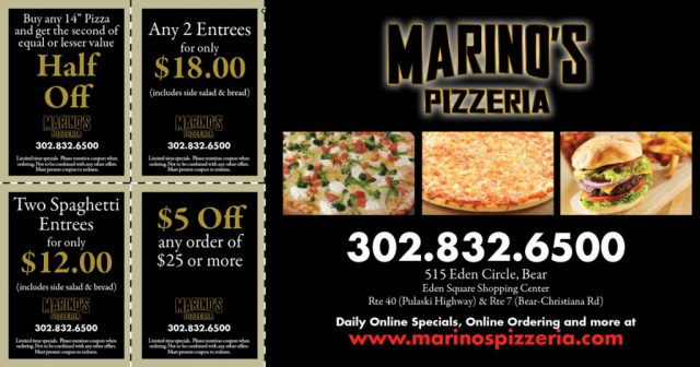 Marino's Pizzeria Postcard Scratch-Off