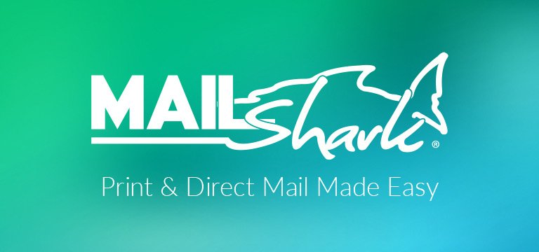 Mail Shark logo on gradient background