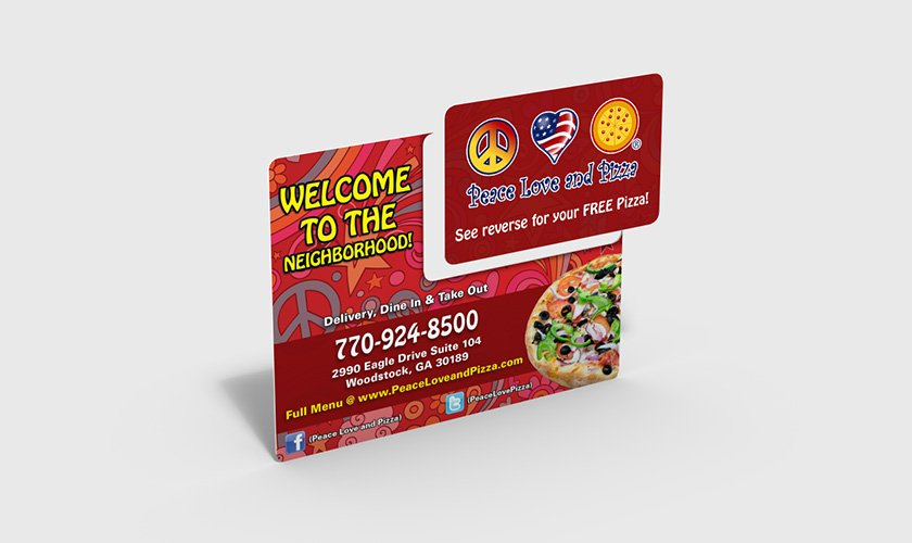 Pizza Restaurant Plastic New Mover Mailer