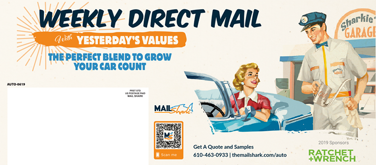 Direct mail piece with QR code