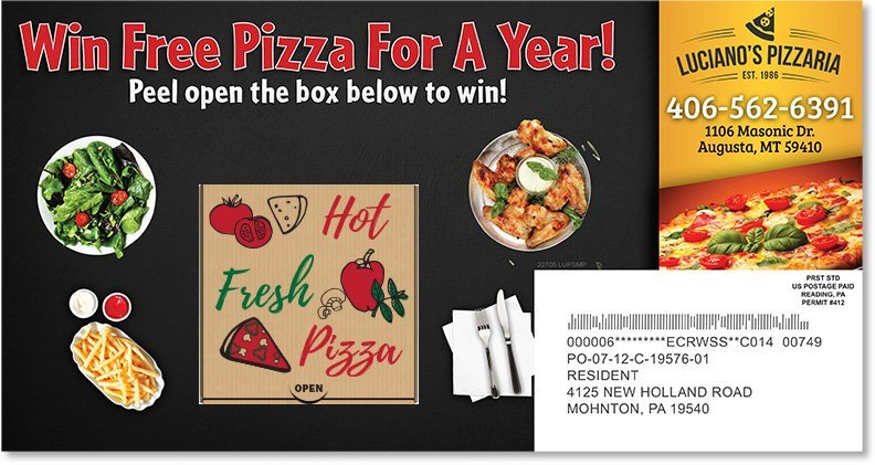 Restaurant Peel-A-Box Postcard Sample